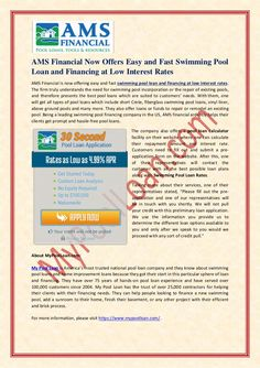 50 Best Press Release For My Pool Loan Images Loan