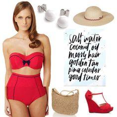 Set Červené retro léto od Fashion Intimate