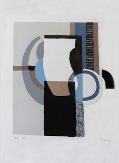 """Charles  MONNIER, 1925 - 1993 Titre: Composition II Technique: Sérigraphie signée et justifiée par l'artiste """"essai H.C. """""""
