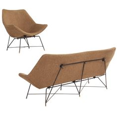 'cosmos' Sofa Set With Lounge Chair By Augusto Bozzi For Saporiti