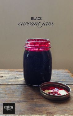 Black currant jam is one of my favorite things, so when some friends' currant bushes were going unpicked, I swooped in. This recipe is about as old-fashioned purist as it gets. No pectin, no … Jelly Recipes, Jam Recipes, Canning Recipes, Currant Bush, Currant Berry, Blackcurrant Jam Recipe, Gooseberry Jam, Currant Recipes, Freezer Jam
