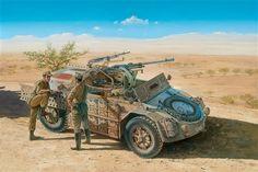 Camionetta AS-42 sahariana armata di cannoni e mitragliatrice Breda.