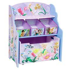 Delta Children's Products Disney Fairies 3 Tier Storage Organizer and Toy Box