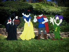 Snow White Character Cutouts (4 Pieces) on Etsy, $350.00