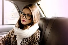 leopard and glasses.