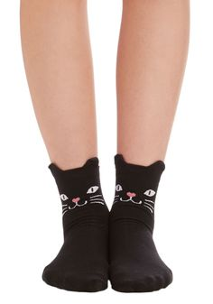 Across Your Path Socks. Theres no denying it, finding these adorable black-cat socks was pure good luck! #black #modcloth