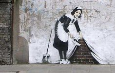 Banksy - French Maid Street Art