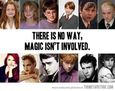 Harry Potter - then and now