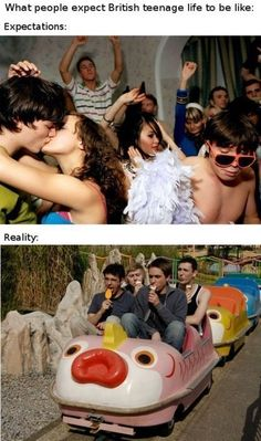 Funny pictures about British teenagers: expectations vs reality. Oh, and cool pics about British teenagers: expectations vs reality. Also, British teenagers: expectations vs reality photos. The Inbetweeners, Expectation Reality, Funny Memes, Jokes, Videos Funny, Memes In Real Life, Lol, Laugh Out Loud, Haha