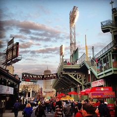 Fenway, Boston -this picture is exactly where I want to be every moment of th day.