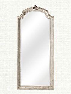 """Newport 31""""x 72"""" Floor Mirror in White"""