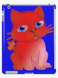 My RED Vanda Cat Pet – Original Ink Hand Drawing by Alice Iordache • Also buy this artwork on phone cases, apparel, stickers, and more.