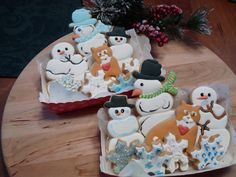 Winter Snowman Cookies   Cookie Connection