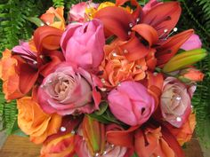 Flowers Tulips, Roses, Lilies with a little bling