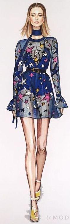Elie Saab Fashion Illustration by
