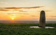 Lia Fáil Sunset, Hill of Tara, County Meath, Ireland TRAVEL TRAVEL TRAVEL