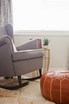 pin for later how to decorate a nursery on a budget cushioned rockers donu0027t come cheap so autumn decided to add rocking chair legs to an