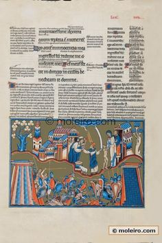 Geteld tent.  The Great Canterbury Psalter,  late 13th and early 14th century illuminated manuscript.  Geteld.