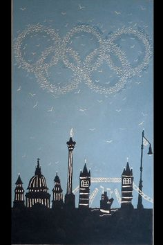 london olympic tea towel