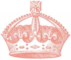 Vintage Crown Images - 4 Options - The Graphics Fairy