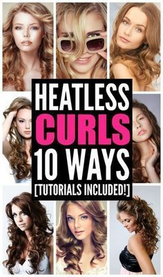 Curly hair takes time and means heat damage to your locks, right? Actually, not so much. Heatless curls are possible and they're not only time-saving, but cause much less damage to your hair. Using simple aids like bobby pins, headbands, braids, and hair ties, you can create gorgeous tight overnight curls, or quick and sexy loose beach waves in minutes. Check out ten ways to create perfect DIY no heat curls. Step-by-step instructions and tutorials included!