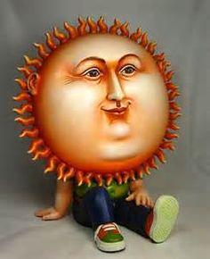 My new happy face. Sun Moon Stars, Sun And Stars, Moon Symbols, Sun Worship, Good Day Sunshine, Sun Designs, Sun Art, Paperclay, Mexican Art