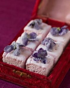 Sweet Paul's Pink Vanilla Marshmallows With Candied Violets