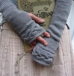 Celtic Princess Gauntlets, organic cotton. I may need these for under my coat this winter....