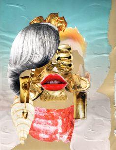 "Nivard Thoes; Photomontage, 2012, Assemblage / Collage ""#79 Au"""