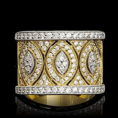 18K MULTI-TONE GOLD 0.88CT DIAMOND RING