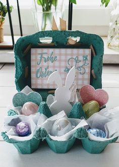 Stampin Up Ostern, Easter Crafts, Easter Ideas, Tis The Season, Craft Gifts, Serving Bowls, Seasons, Tableware, Diy