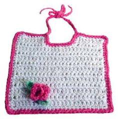 Fancy Bibs for Adults patterns | Picture of Free Rosebud Bib Pattern