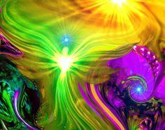 Reiki Tapestry Energy Healing Chakra Art From von primalpainter