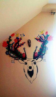 Deer Wall tattoo