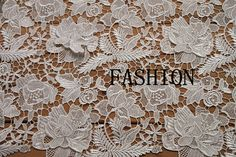 white lace fabric venice lace fabric Bridal by WeddingbySophie, $35.00