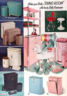 Sears 1964 Spring/Summer Catalog | Flickr - Photo Sharing! Mid Century Modern Bathroom, Vintage Designs, Vintage Ideas, Hollywood Homes, Vintage Bathrooms, 50s Kitchen, Vintage Kitchen, Mid Century House, Retro Home