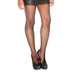 Hot Topic ($6) ❤ liked on Polyvore featuring hot topic, patterned stockings, fishnet hosiery, patterned pantyhose, fishnet tights and fishnet pantyhose