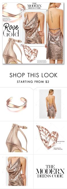"""""""Rose Gold Jewelry"""" by jecakns ❤ liked on Polyvore featuring Miss Selfridge"""