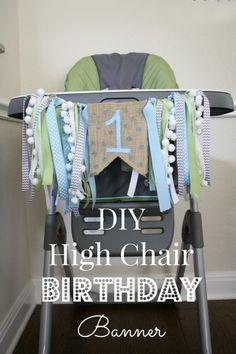 DIY high Chair Birthday Banner // Life Anchored