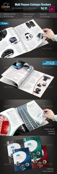 CS Multipurpose Catalogue InDesign Template Vol 01This is clean and modern looking Multipurpose Catalogue  InDesign Template. Nice