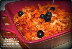 No Conforto da Minha Cozinha...: Macarronetes com Molho de Atum Gratinados no Forno...