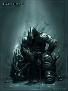 I love this picture of Death. Dark and intense, yet solem and peaceful. He was a absolutely phenomenal representation of Death itself. Darksiders 2 Death, Darksiders Horsemen, Darksiders Game, Dark Fantasy, Fantasy Art, Marvel Dc, Videogames, Horsemen Of The Apocalypse, Dark Drawings