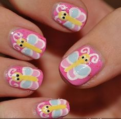 Butterfly free hand nail art:Top 9 Nail Art Designs for Kids