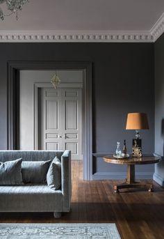 Squid Ink Living Room to Hallway