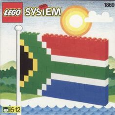 build flags out of lego (South Africa)