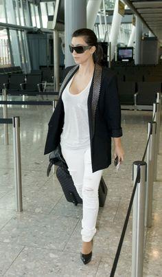 Airport Kim with Studded Blazer