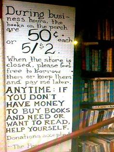 Best Bookstore Ever!   I am so enamored with this idea.