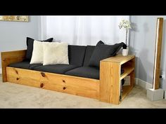 (87) DIY Sofa Bed / Turn this sofa into a BED - YouTube
