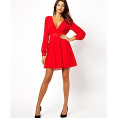 Hot Selling 2014 Spring Women long-sleeve deep V-neck sexy chiffon one-piece dress slim dresses for party black white red color Cheap Dresses, Short Dresses, Club Dresses, Women's Dresses, Long Sleeve Chiffon Dress, Chiffon Dresses, Red Chiffon, Sleeve Dresses, Chiffon Fabric