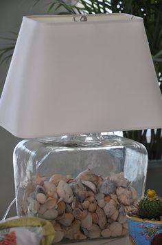 Shell Lamp On Pinterest Shell Chandelier Tiki Room And Coastal Lighting